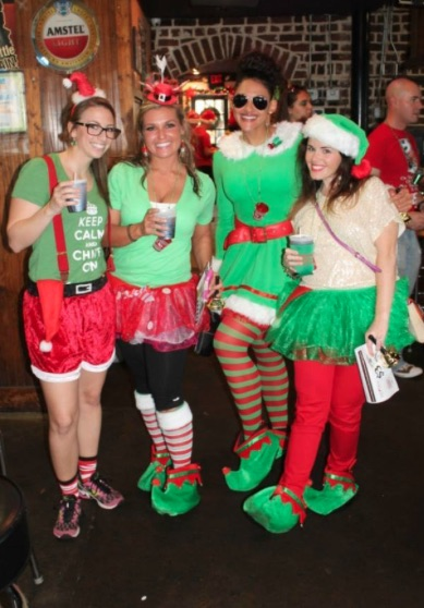 the twelve bars of christmas 5k holiday themed bar crawl
